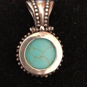 Turquoise and sterling pendent
